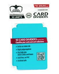 Card Dividers - Standard Size - Aquamarine