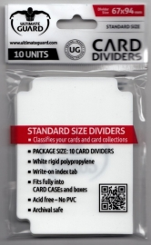 Card Dividers - Standard Size - White