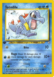 Totodile - Unlimited - NeoGen - 80/111