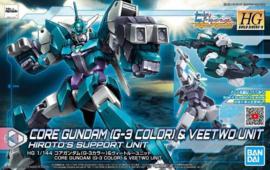 PFF-X7 Core Gundam (G3 Color) & Veetwo Unit HGBDR 1/144