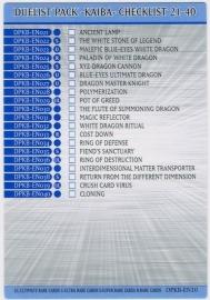Checklist 21-40