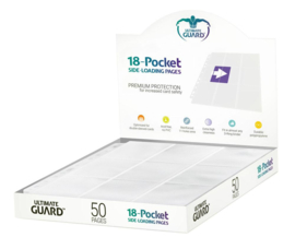 Ultimate Guard 18-Pocket Pages Side-Loading White