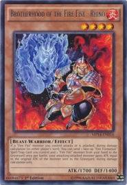 Brotherhood of the Fire Fist - Rhino - 1st Edition - MP14-EN014