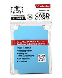 Card Dividers - Standard Size - Light Blue