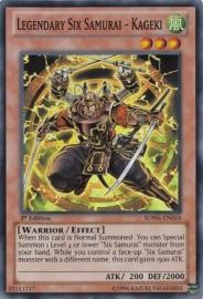 Legendary Six Samurai - Kageki - 1st Edition - SDWA-EN018