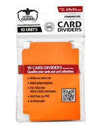 Card Dividers - Standard Size - Orange