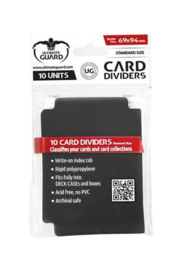 Card Dividers - Standard Size - Black