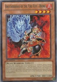 Brotherhood of the Fire Fist - Rhino - 1st Edition - LTGY-EN028