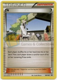 N - BW100 - Promo - Pokémon League (Fennekin Season; 2013-2014 Cycle) (Mirror Holo)