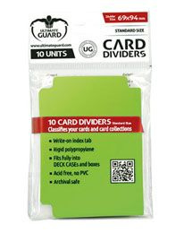 Card Dividers - Standard Size - Light Green