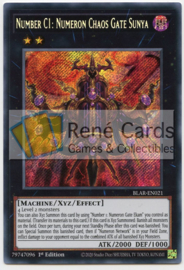 Number C1: Numeron Chaos Gate Sunya - 1st. Edition - BLAR-EN021