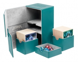 Twin Flip´n´Tray Deck Case 160+ Standard Size XenoSkin Petrol Blue