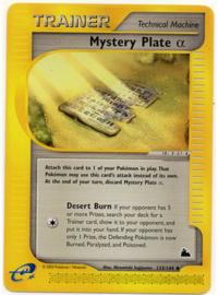 Mystery Plate α - SkyRid - 133/144