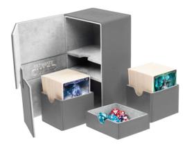 Twin Flip´n´Tray Deck Case 160+ Standard Size XenoSkin Grey