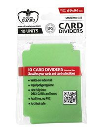 Card Dividers - Standard Size - Green