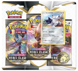 Pokemon - S&S - Rebel Clash - 3 Pack Blister - Duraludon