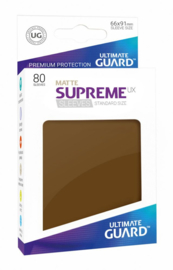 Supreme UX Sleeves - Standard Size Matte - Brown