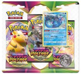 Pokemon - Vivid Voltage -3 Booster Blister - Vaporeon