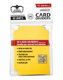 Card Dividers - Standard Size - Yellow
