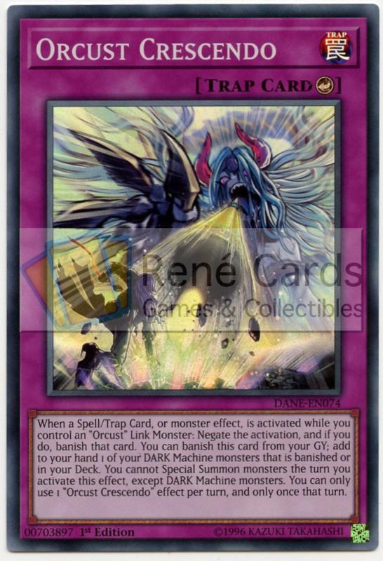 DANE-EN074 Orcust CrescendoUnlimited Super Rare Card YuGiOh TCG Dark Neostorm