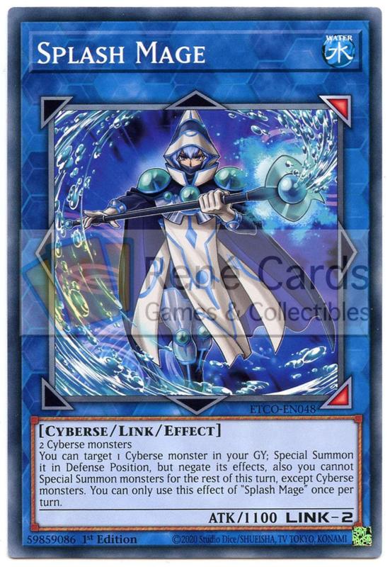 3 x Splash Mage ETCO-EN048 1st Edition NEW YuGiOh Cards