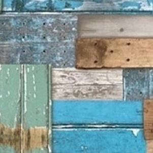 Sloophout blauw