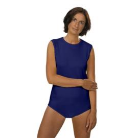 Body voor volwassenen met drukknopsluiting, luierpakje - Blauw