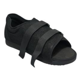 Lage gipsschoen, verbandschoen met klittenband en open teengedeelte