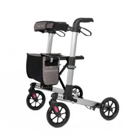 Klein opvouwbare lichtgewicht rollator met zachte wielen voor in de auto, Track Comfort