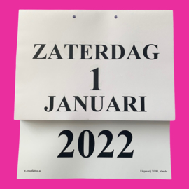 Grootletter dagkalender A4 - 2022, kalender met grote letters en cijfers