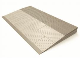Drempelhulp voor uw rollator of rolstoel, voor een verhoging van 4,5, 5, 5,5 of 6 cm
