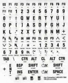 Braille toetsenbordstickers wit (683158)