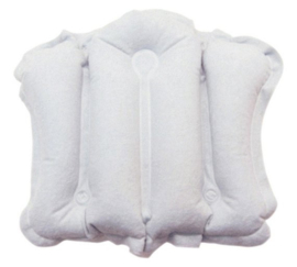 Opblaasbaar badkussen voor uw rug in bad