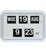 Nederlandse kalenderklok QD-35 Wit - 644105
