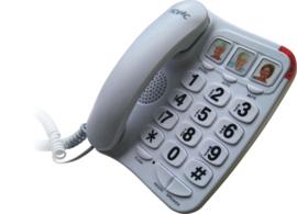 Telefoon voor slechtzienden met grote toetsen - Big button telefoon wit