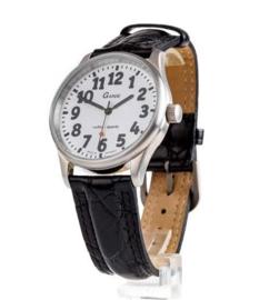Unisex horloge voor slechtzienden met grote zwarte cijfers  - 650770