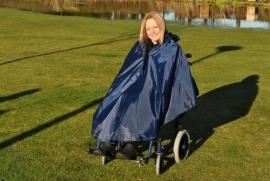 Poncho voor de rolstoel zonder mouwen en ongevoerd, rolstoelkleding
