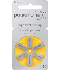 Hoorbatterijen Power One geel P10 voor uw gehoorapparaat