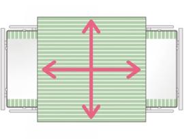 Glijklaken voor het draaien en positioneren in bed, SatinSheet 4D treklaken Midi 4D - ALMIM4115S