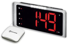 Wekker voor doven en slechthorenden met luid alarm, extra helder lichtsignaal en trilkussen - TCL-410