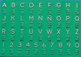 Braille alfabet kunststof