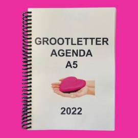 Grootletter agenda A5 - 2022 voor Alzheimer en Dementie, agenda met grote letters