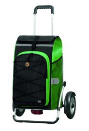 Boodschappenwagen met grote luchtbanden en spatborden, Royal Shopper Plus Fado 2.0 Groen