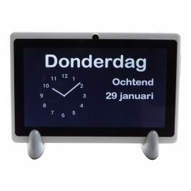 Kalenderklok Analoog met beeldbellen voor Alzheimer en Dementie met dagdeel, dag en datum