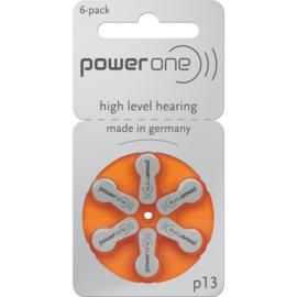 Hoorbatterijen Power One oranje P13 voor uw gehoorapparaat