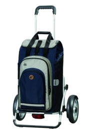 Boodschappenwagen met grote wielen en spatborden, Royal Shopper Plus Hydro 2.0 Blauw