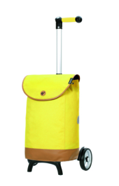 Lichte boodschappenwagen om te duwen of trekken, Unus Shopper Fun Emil Geel