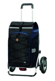 Boodschappenwagen met grote luchtbanden en spatborden, Royal Shopper Plus Fado 2.0 Blauw