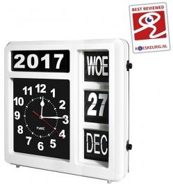 Kalenderklok met dag-, datum- en jaaraanduiding - FK-247