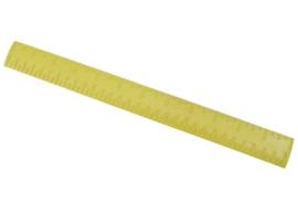 Liniaal beige kunststof met puntenindicatie